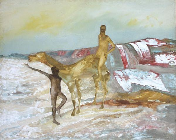 Sidney Nolan , Australian 1917 - 1992 BURKE AND WILLS EXPEDITION Enamel and oil on composition board
