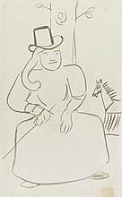 HENRI DE TOULOUSE-LAUTREC | L'amazone de Barrias (An Illustration for <em>Chasseur de chevelures</em> by Tristan Bernard)