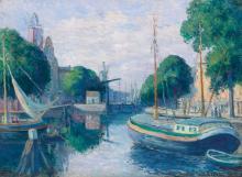 MAXIMILIEN LUCE | Péniches sur le canal à Rotterdam