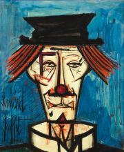 BERNARD BUFFET | Clown, chapeau noir