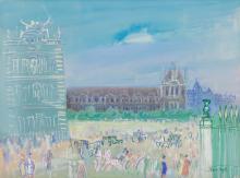 JEAN DUFY | Paris, le carrousel du Louvre
