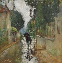 PIERRE-EUGÈNE MONTÉZIN | Rue sous la pluie