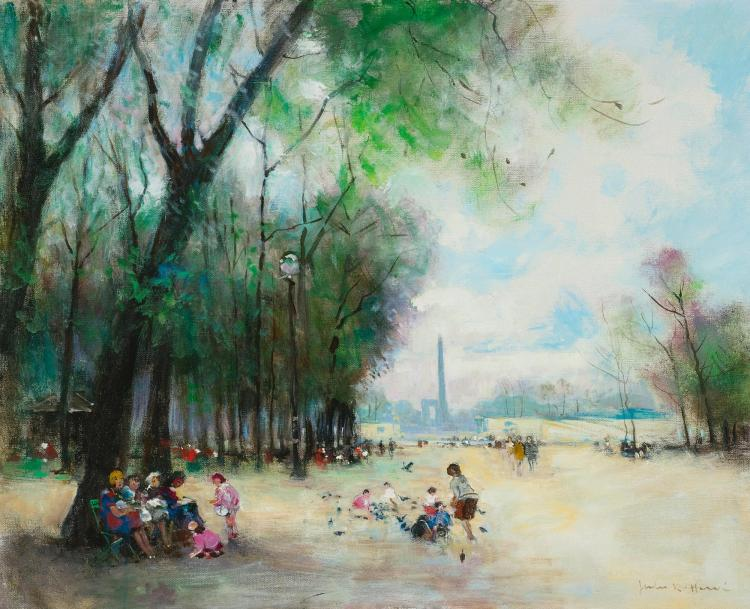 JULES HERVÉ | Paris, le jardin des Tuileries