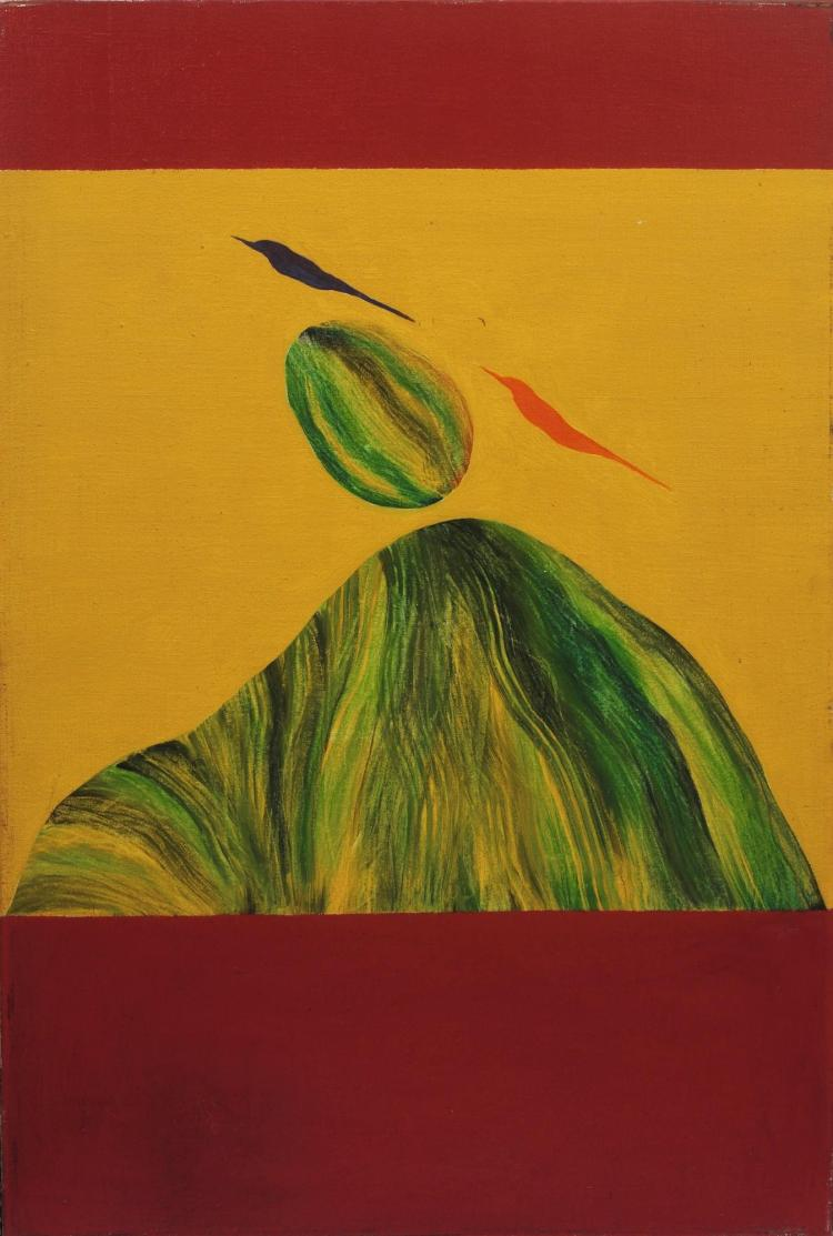 JAGDISH SWAMINATHAN | Untitled (Bird and Rockover Mountain)