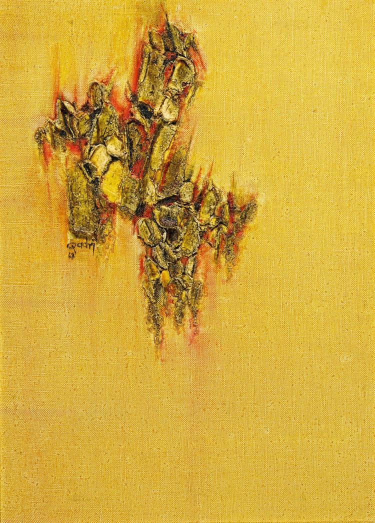 SOHAN QADRI | Untitled (Orange Murmur)
