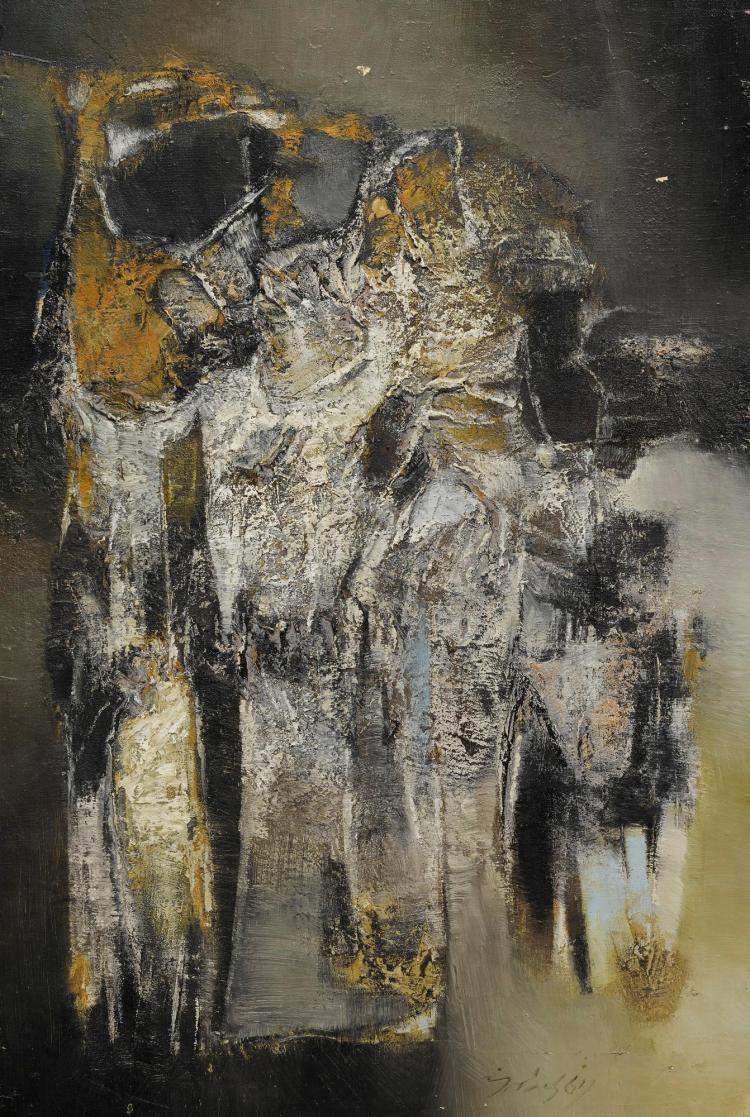 GULAM RASOOL SANTOSH | Untitled (One Winter Night)