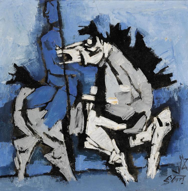 MAQBOOL FIDA HUSAIN | Untitled (Woman on a horse)