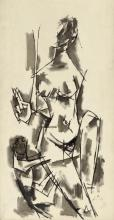 MAQBOOL FIDA HUSAIN | Untitled (Nayika)