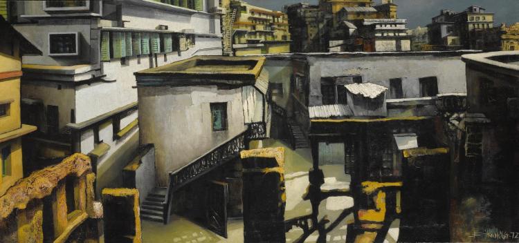 BIKASH BHATTACHARJEE | Untitled (Rooftops)