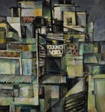 BIKASH BHATTACHARJEE | Untitled (Rooftops)