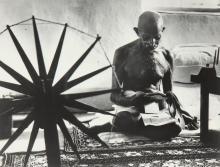 MARGARET BOURKE-WHITE   Mahatma Gandhi, The Spinner
