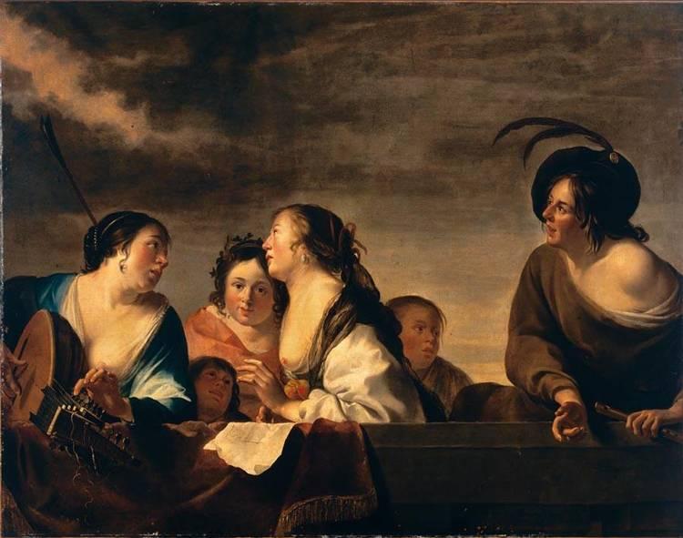 f - JAN GERRITSZ. VAN BRONCKHORST UTRECHT CIRCA 1603 - 1661 AMSTERDAM