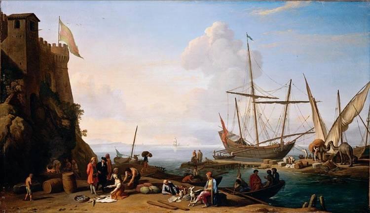 ADRIEN MANGLARD LYON 1695 - 1760 ROME