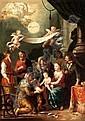 JOHANN HEISS MEMMINGEN 1640 - 1704 AUGSBURG THE HOLY KINSHIP, Johann Heiss, Click for value
