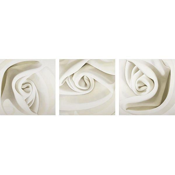 m - Alison Watt , born 1965 blanche moreau oil on canvas, triptych
