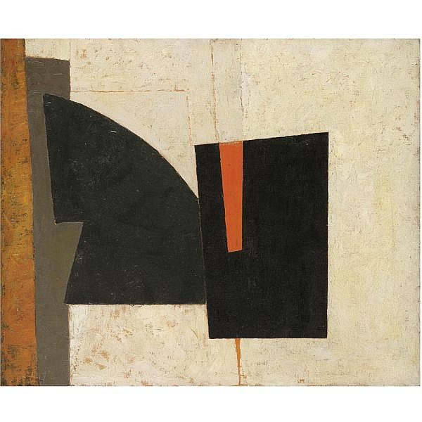 Adrian Heath , 1920-1992 composition: (divided form) 1955 oil on canvas