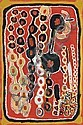 John Mosquito Tjapangarti circa 1922 -2004   PUNDU   synthetic polymer paint on canvas     , John Mosquito Tjapangati, Click for value