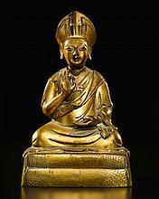 A BRONZE FIGURE OF ROLPAI CHANGKYA HUTUKTU TIBETO-CHINESE, QING, 18TH CENTURY |