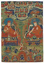 A THANGKA DEPICTINGTWO SAKYALINEAGE HOLDERS CENTRAL TIBET, NGOR MONASTERY, 18TH CENTURY |