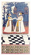 MAHARANA PRATAP SINGH II PRESENTS GOLD COINS TO RAJ SINGH II   MAHARANA PRATAP SINGH II PRESENTS GOLD COINS TO RAJ SINGH II