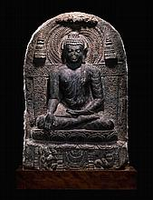 A PHYLLITE STELE DEPICTINGBUDDHA EASTERN INDIA, PALA PERIOD, 9TH/10TH CENTURY  