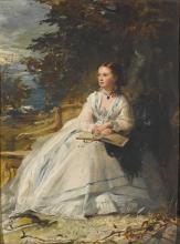ROBERT HERDMAN, R.S.A.   Portrait of Harriet Stuart Forbes, Lady Clinton