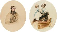 MRS. MUSGRAVE   Portrait of Sir John Stuart Hepburn-Forbes, 8<sup>th</sup>Bt. (1804-1866); together witha portrait of his wife and daughter