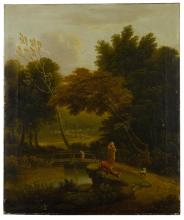 ENGLISH SCHOOL, 18TH CENTURY   Two pastoral wooded river landscapes