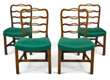 A SET OF FOUR SCOTTISH GEORGE III MAHOGANY CHAIRS, CIRCA 1770 |