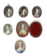 A COLLECTION OF SIX PORTRAIT MINIATURES |