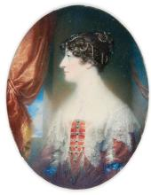 GEORGE SANDERS | Portrait of a lady, possibly Williamina Belsches-Stuart of Fettercairn (<em>circa</em> 1776-1810)