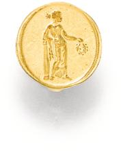 GOLD RING, POSSIBLY HELLENISTIC 5TH TO 4TH CENTURY BC TO 2ND CENTURY AD
