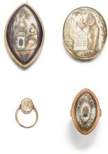 COLLECTION OF GOLD AND IVORY MOURNING JEWELS, LATE 18TH CENTURY
