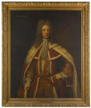 CHARLES D'AGAR | Portrait of Robert Darcy, 3rd Earl of Holderness (1681-1721), three-quarter length, in peer's robes