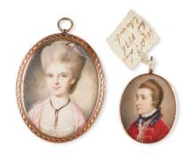 BRITISH SCHOOL, 1776 | Portrait of Captain, the Hon. William Leslie (1751-1777); together with a portrait of a lady, probably his sister Lady Jane Stuart, née Leslie (1753-1829), <em>circa</em> 1780