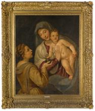 FOLLOWER OF TIZIANO VECELLIO, CALLED TITIAN | The Madonna and Child withMary Magdalene