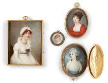 A COLLECTION OF FOUR PORTRAIT MINIATURES |