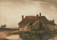 DAVID COX, R.W.S. | A farm in open country
