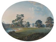 ALEXANDER NASMYTH | A view of Newbattle Abbey from the park