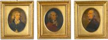 WILLIAM STAVELEY   Portraits of Sir William Forbes, 6th Bt. (1739-1806); Sir William Forbes, 7th Bt. (1773-1828); and Lt. Colonel Hay