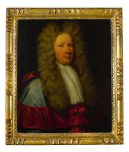 CIRCLE OF JOHN BAPTIST DE MEDINA   Portrait of a Judge, believed to be Sir Alexander Belsches of Tofts, half-length, wearing Judicial robes