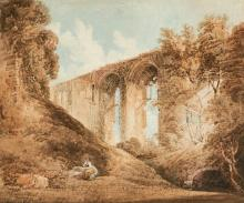 THOMAS GIRTIN | A woman seated near Kenilworth Castle, Warwickshire