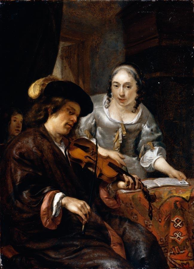 THE PROPERTY OF A LADY HENDRICK VERSCHURING GORINCHEM 1627 - 1690 DORDRECHT AN INTERIOR WITH A MAN