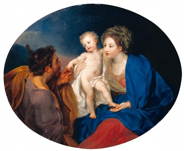 THE PROPERTY OF A LADY ANTON VON MARON VIENNA 1733 - 1808 ROME THE MADONNA AND CHILD WITH A