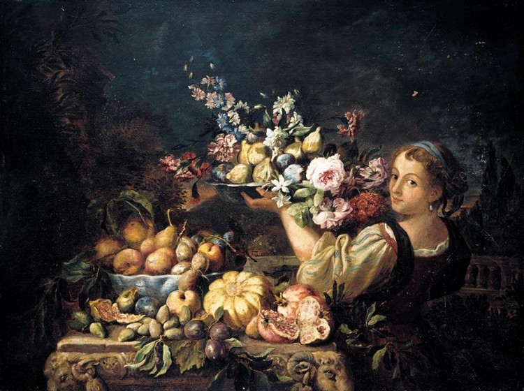 PROPERTY FROM A PRIVATE COLLECTION ABRAHAM BRUEGHEL ANTWERP 1631 - 1697 NAPLES A STILL LIFE OF A