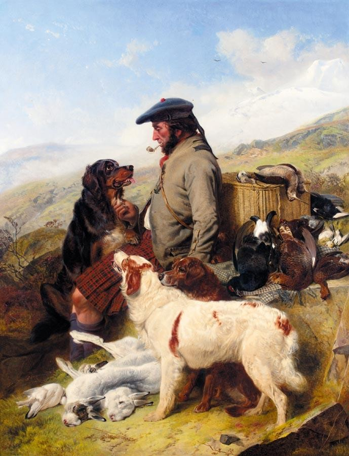 RICHARD ANSDELL R.A. 1815-1885 THE SCOTCH GAMEKEEPER