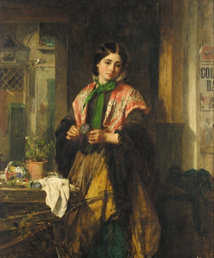 THOMAS FAED, R.A 1826-1900 A FLOWER FROM PADDY'S LAND