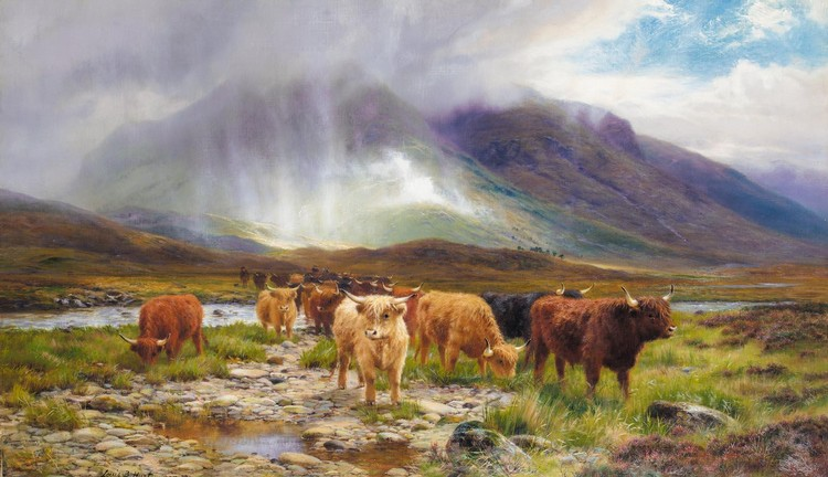 LOUIS BOSWORTH HURT 1856-1929 A PASSING SHOWER, GLEN ORCHY