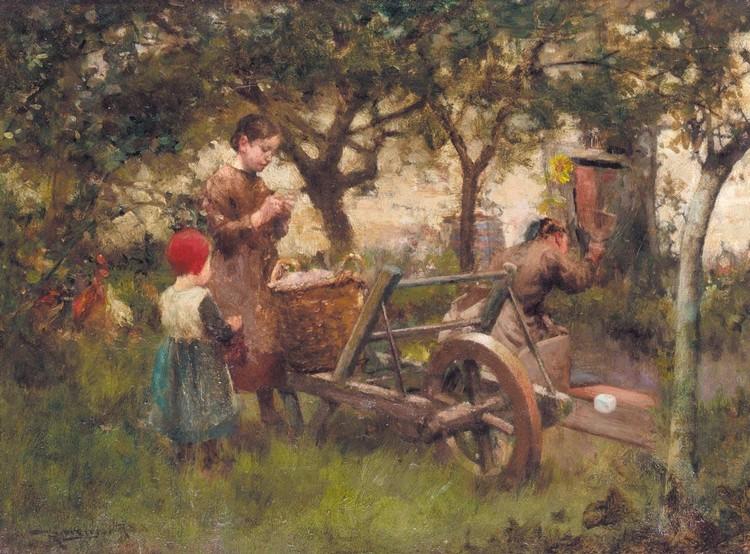 ROBERT MCGREGOR 1848-1922 IN THE ORCHARD