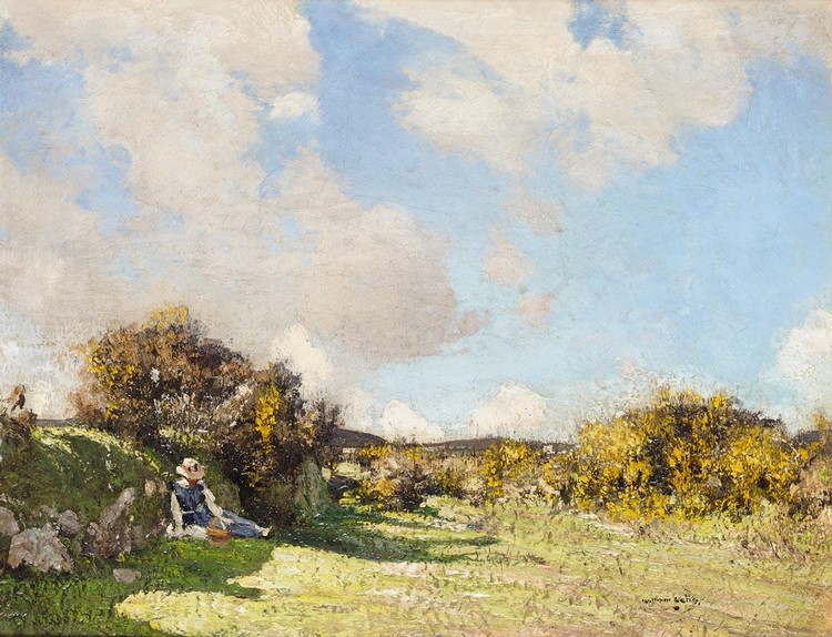 WILLIAM PAGE ATKINSON WELLS 1872-1923 THE SHADED PICNIC